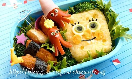 超简单美味!海绵宝宝可爱便当的做法