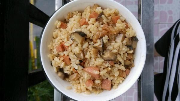 香菇虾仁闷饭的做法