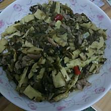 雪菜冬笋炒肉丝