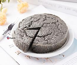 【无糖无油】黑芝麻山药糕,不要面粉就能做!松软又好吃~的做法