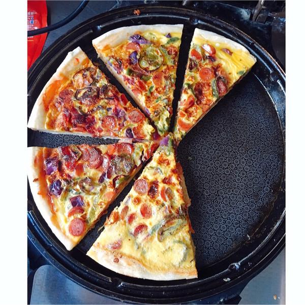 电饼铛简易版家庭版披萨  无需奶酪的做法