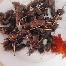 铁板羊肉串、牛肉串