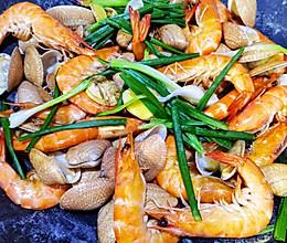 盐焗海鲜 3分钟菜式的做法