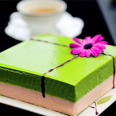 抹茶巧克力慕斯蛋糕