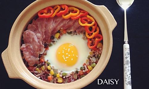 【❤一人食】五彩红米焖饭的做法