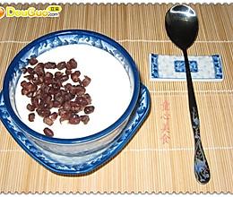 自制红豆炖奶的做法
