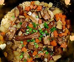 红烧排骨煲仔饭(电饭锅版)的做法