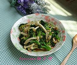 海鲜菇炒西兰花#春天不减肥,夏天肉堆堆#的做法