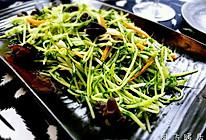 木耳蒜茸炒豌豆苗的做法