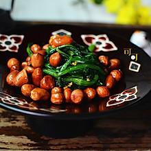 陈醋菠菜花生米:一道经典东北凉拌菜