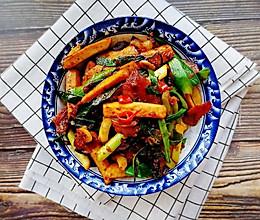#一道菜表白豆果美食#湘味~腊肉炒香干的做法