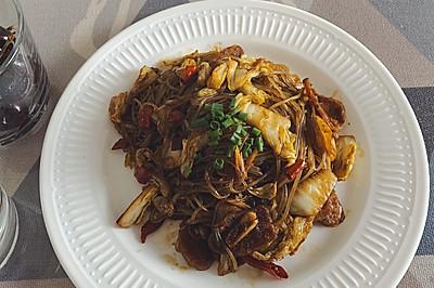 下飯菜:大白菜炒粉絲