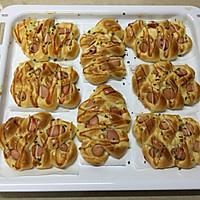 麦穗脆皮肠面包,冷藏法的柔软面包的做法图解16