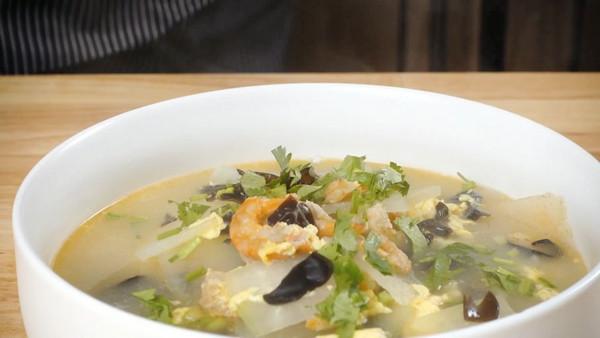 海米冬瓜汤   鲜味十足!步骤简单!十分钟得到一碗瘦身好汤!