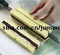 双色棋格奶油蛋糕的做法图解17