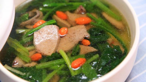 菠菜猪肝汤——迷迭香