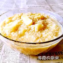 小米红糖苹果粥