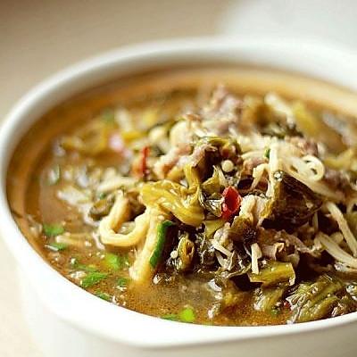 酸菜肥牛金针菇