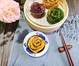 玫瑰花蒸饺#四季宝蓝小罐#的做法