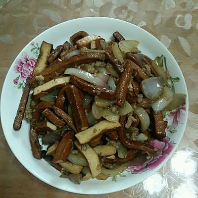 肉末洋葱炒豆干