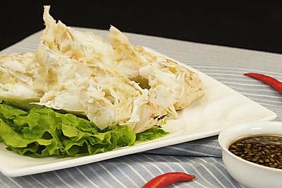 鲜美无比的清蒸帝王蟹身