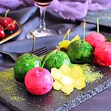 #新年开运菜,好事自然来#芋泥鹅肝樱桃