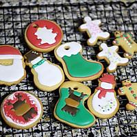 圣诞节装饰糖霜饼干的做法图解9