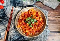 #肉食者联盟#番茄浓汤拌面的做法