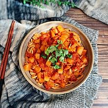 #肉食者联盟#番茄浓汤拌面