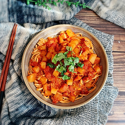 番茄浓汤拌面