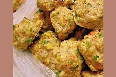 减脂快手菜——烤箱版豆腐杂蔬丸