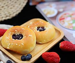 蓝莓爆浆大米面包的做法