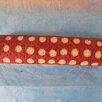 香润丝滑红丝绒波点蛋糕卷#长帝烘焙节#的做法图解18