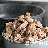黑蒜子牛肉粒的做法图解11