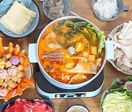 3口人晚餐吃火锅,花100元吃得肚子都圆了,有菜有肉营养美味的做法