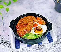 #换着花样吃早餐#鸡排砂锅饭的做法
