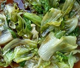 蚝油炒圆生菜的做法