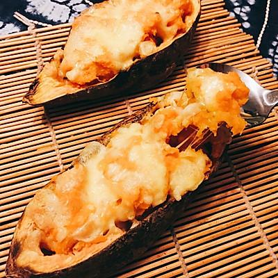 简易芝士焗红薯