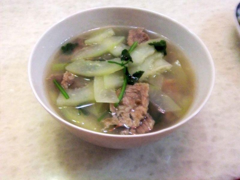 青木瓜肉片汤