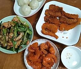 金镶玉:炸豆腐鱼和虾的做法