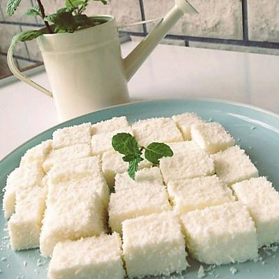 椰丝牛奶小方块(椰奶冻)
