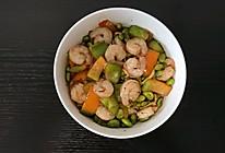 毛豆彩椒炒虾仁的做法