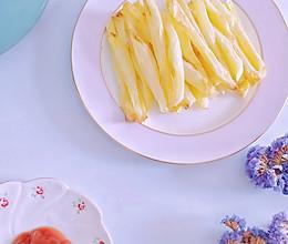 #全电厨王料理挑战赛热力开战!#低卡无油无淀粉空气炸锅炸薯条的做法