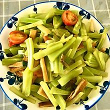 莴苣炒豆干