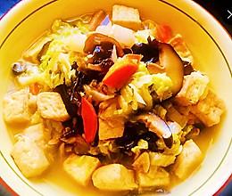 健康菜-大白菜炖豆腐的做法