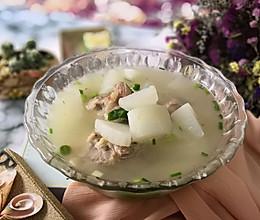 润肺止咳汤之——筒骨萝卜豌豆汤的做法
