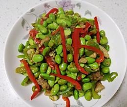 双椒豆米的做法