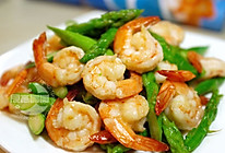 清炒芦笋虾仁  的做法