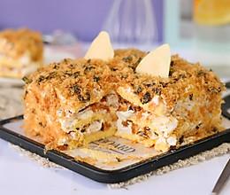 海苔肉松咸奶油蛋糕的做法