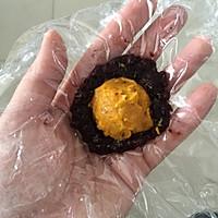 椰蓉黑米南瓜球#发现粗食之美#的做法图解7